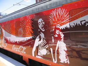 coca cola train exterior