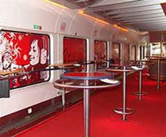 coca cola train interior