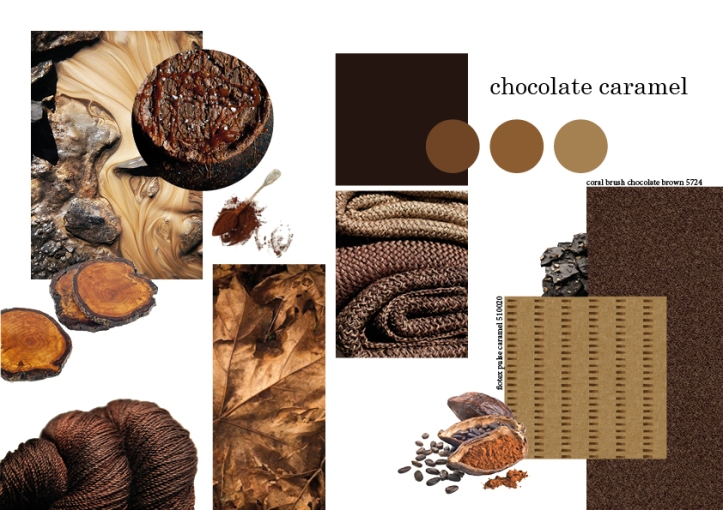 Chocolate Caramel Mood board