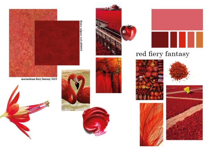 fiery fantasy mood board
