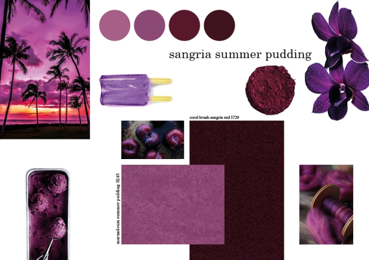 sangria summer pudding