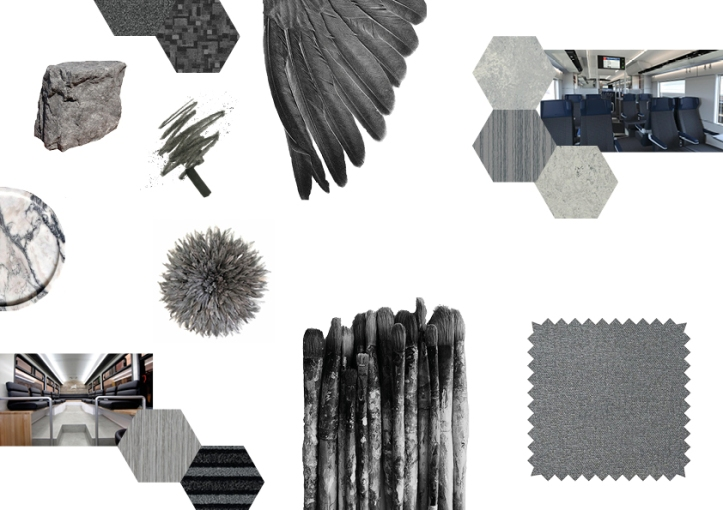 grey mood board