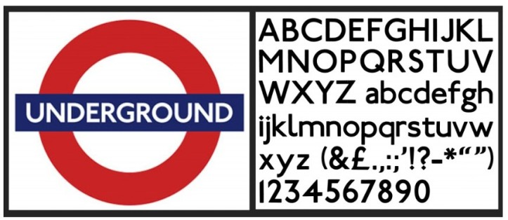 london underground font