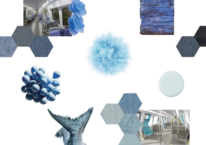 pale blue mood board