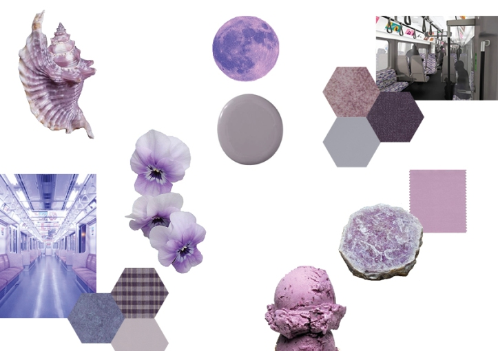 pale purple mood board