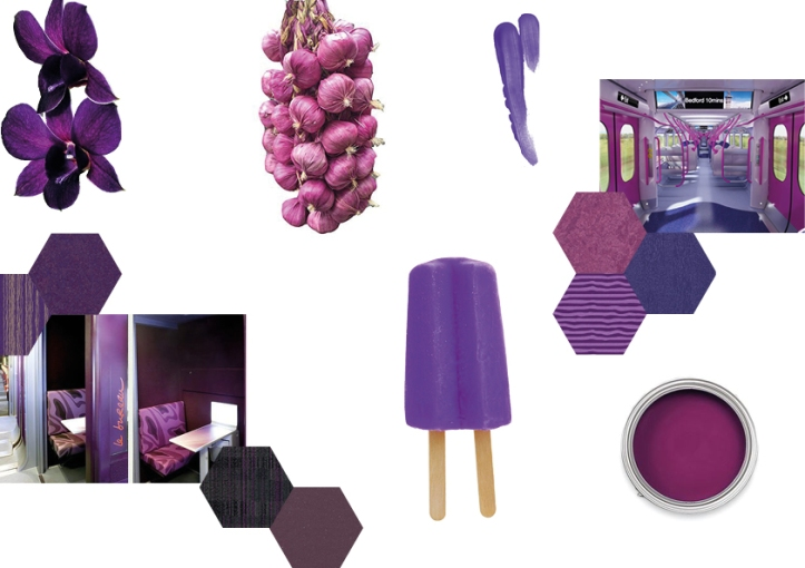 purple mood board bright